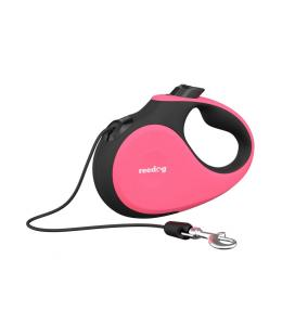 Reedog Senza Premium samonavíjecí vodítko S 12kg / 5m lanko / růžové