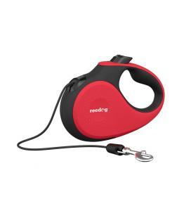 Reedog Senza Premium samonavíjecí vodítko M 20kg / 5m lanko / červené